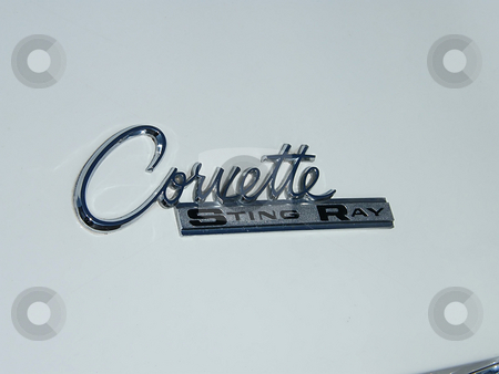 Corvette Sting Ray Emblem stock photo, 1963 Chevy Corvette Sting Ray Emblem on rear end of car. by Dazz Lee Photography
