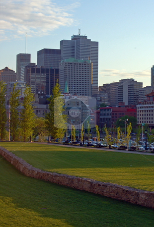 Buildings stock photo, View of Montreal downtown from Place Jacques-Cartier by Pavel Cheiko