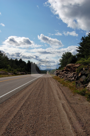 Highway stock photo, Highway along Mattawa River to the north of Algonquin Park by Pavel Cheiko