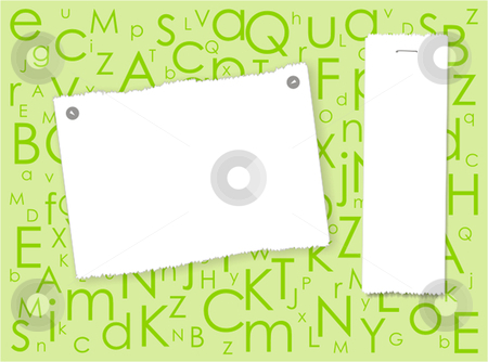 Two billboards on the alphabet background stock vector clipart, Two billboards on the alphabet background by Julia Shentseva