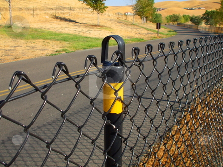 Chain Link Fence stock photo,  by Michael Felix