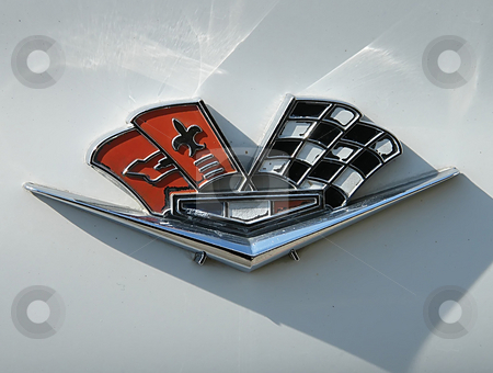 Emblem on 1963 Chevy Corvette stock photo, Emblem on the front quarter panel of a 1963 Chevy Corvette Sting Ray. by Dazz Lee Photography