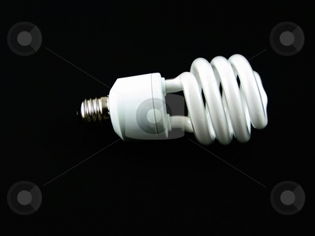 Modern lightbulb stock photo, Modern lighbulb for energy savings and conservation by Albert Lozano