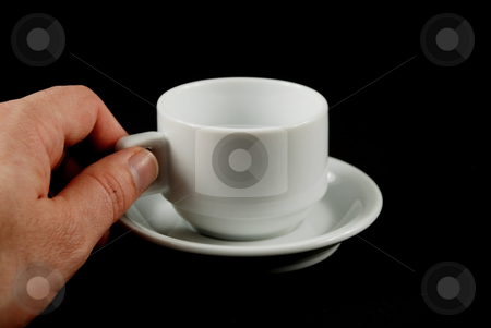 Cofee cups stock photo, Stock pictures of coffee cups stacked for storage and usage by Albert Lozano