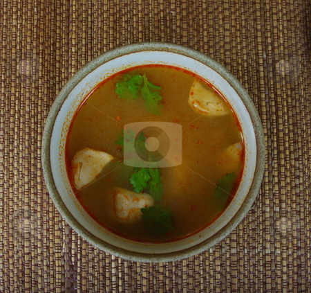 Hot and sour soup stock photo, Hot and sour Thai soup by Martin Darley