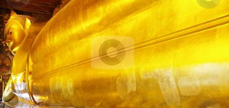 Reclining Buddha stock photo, Reclining Buddha at Wat Pho. Bangkok, Thailand by Martin Darley
