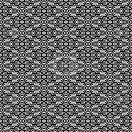 Black and white star pattern stock photo, Seamless texture in black and white with optical depth star shapes by Wino Evertz