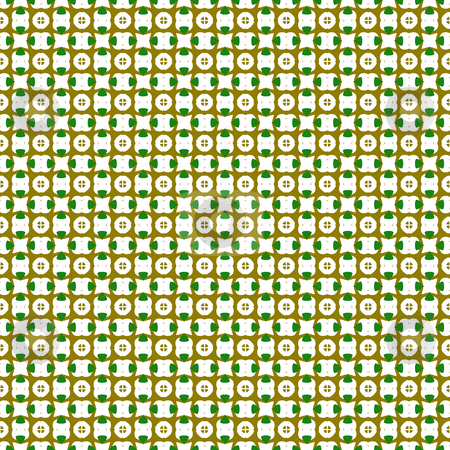 Abstract native pattern stock photo, Seamless texture of little brown and green abstract shapes on beige by Wino Evertz