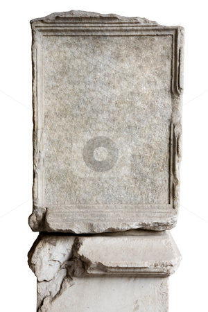 Blank stone in Coliseum stock photo, Blank stone in Coliseum to put your own text by Laurent Renault