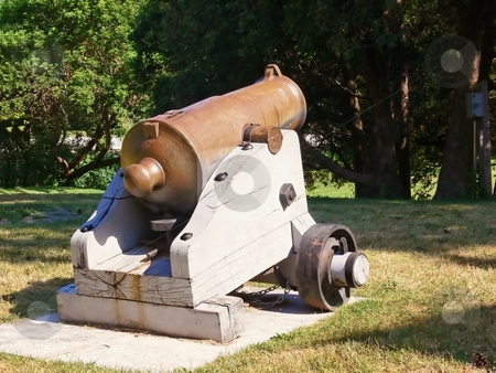 Old cannon from 1813  stock photo, An old cannon from the war of 1813, the American against the British. by Horst Petzold