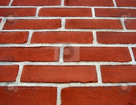 Brick wall stock photo, Bricks arranged to form a wall or a floor by Albert Lozano