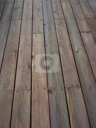 Lumber stock photo, Pieces of lumber to form a deck by Albert Lozano