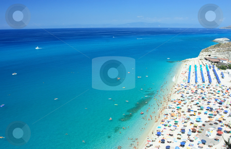 Tropea beach stock photo, Public beach in Tropea, Calabria, southern Italy by Natalia Macheda