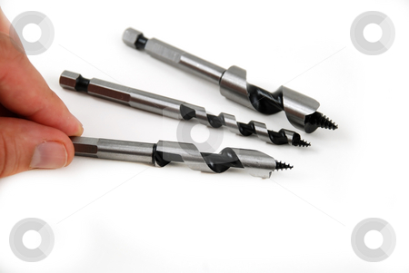 Augers stock photo, Stock pictures of drill bits with augers by Albert Lozano