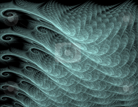 Wavy abstract background stock photo, Computer-genereated fractal illustration of wavy abstract background by Natalia Macheda