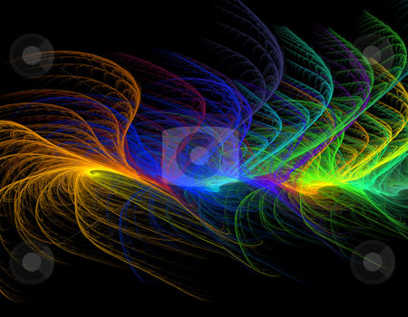 Colorful abstract background stock photo, Computer-generated fractal iilustration of colorful abstract background by Natalia Macheda
