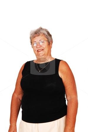 Senior woman portrait. stock photo, An happy senior woman getting a portrait shoot. by Horst Petzold