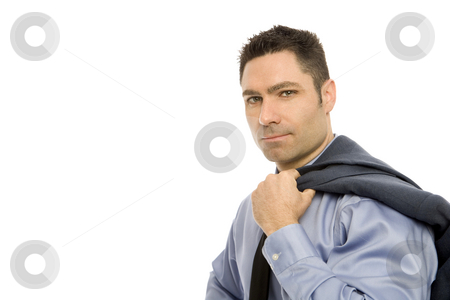 Businesswoman in suit stock photo, Businessman in a suit holds his sports coat by Rick Becker-Leckrone