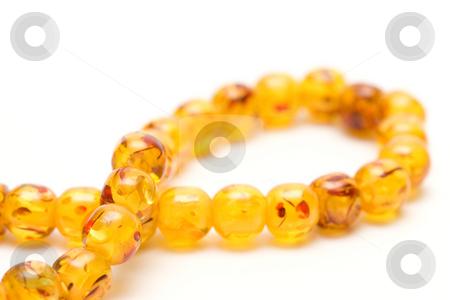 Amber beads stock photo, Amber beads by Andrey Butenko