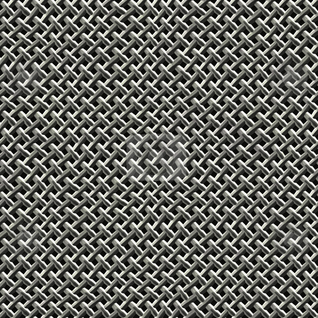 Metal Wire Mesh stock photo, Steel wire mesh texture that tiles seamlessly as a pattern. by Todd Arena