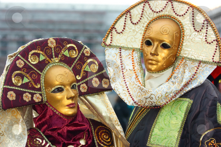 Venice masks stock photo, Beautiful venetian masks during carnival time by Natalia Macheda