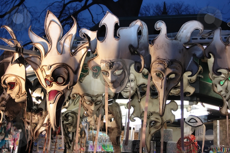 Venice masks on sale stock photo, Surreal view on venice masks on sale by Natalia Macheda