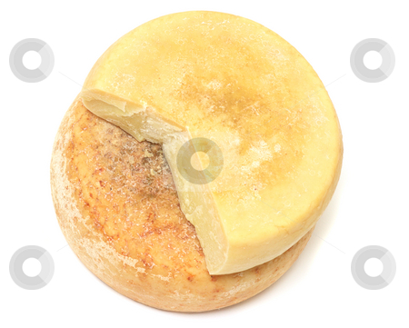Cheese stack stock photo, Two pieces of rupe peasnat cheese in a stack by Natalia Macheda