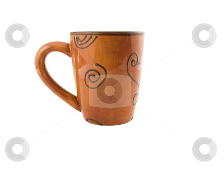 Mug on White stock photo, Mug on a white background with copy space by John Teeter