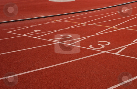 Start on a running track stock photo, Starting on a running track by Marco Formisano