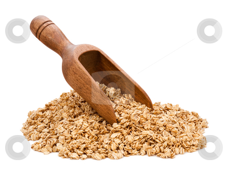 Granola Scoop stock photo, Granola Scoop isolated on white by Danny Smythe