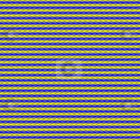 Optical illusion arrow pattern stock photo, Seamless texture of many blue or yellow arrows intertwined by Wino Evertz