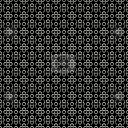 Rings on black pattern stock photo, Seamless texture of many silver rings om black background by Wino Evertz