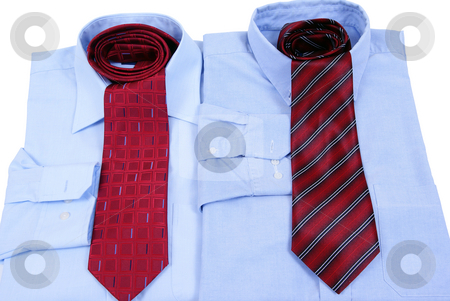 Dress shirt stock photo, Dress shirt with tie isolated on white background by Jolanta Dabrowska