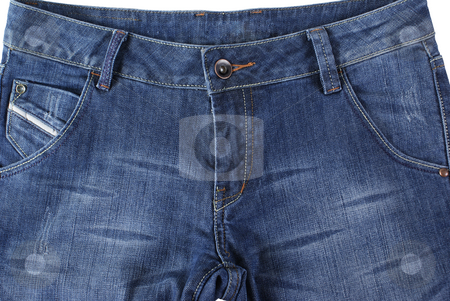 Jeans stock photo, Front of women jeans made as background by Jolanta Dabrowska