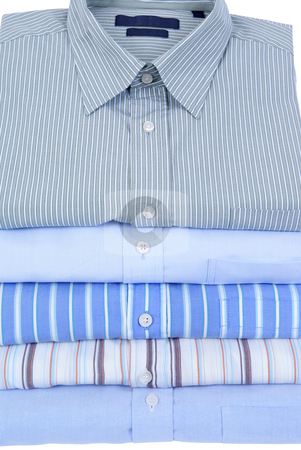 Shirts stock photo, Colourfull men's shirts  isolated on white background by Jolanta Dabrowska
