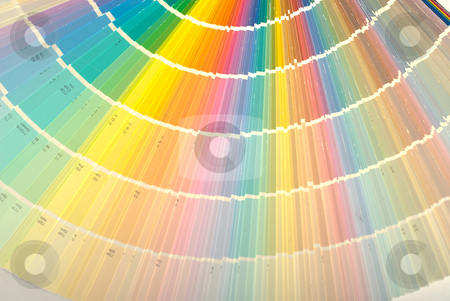 Paint Color Swatch stock photo, Background of a paint color swatch showing the different hues by Richard Nelson