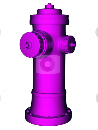 Purple Hydrant stock photo,  by Rodolfo Clix