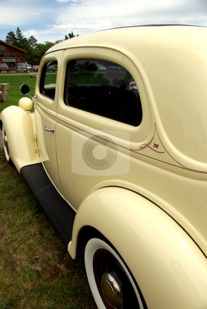 Classic 36' Ford stock photo, This restored, classic, 1936 Ford is so elegant it makes you want to go back in time.  The vintage auto was displayed during a summer Minnesota car show in Pequot Lakes. by Dennis Thomsen