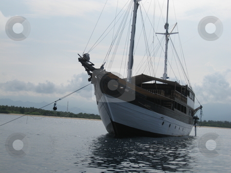Schooner stock photo, An old wooden schooner by Colin Elves