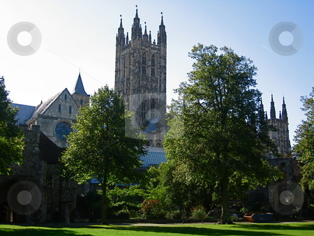 Canterbury Cathedral stock photo, A view of Canterbury Cathedral from the grounds of King's College by Colin Elves