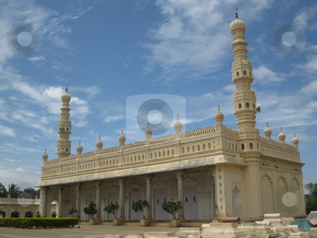 Mosque by Tipu Sultan's Tomb, Mysore, India stock photo, The Mosque by Tipu Sultan's tomb in Mysore, India by Colin Elves