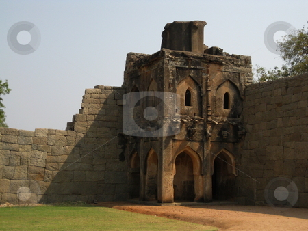 Old Watchtower stock photo, An ancient watchtower at the Lotus Mahal, Hampi, India by Colin Elves