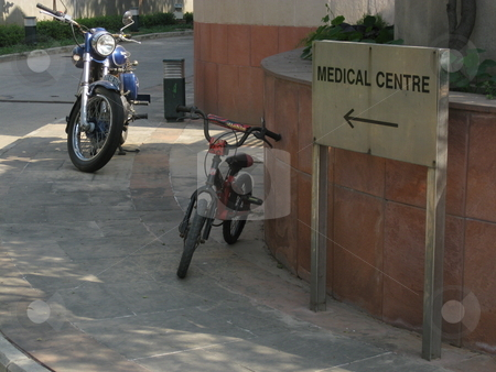 Medical Centre Sign stock photo, A sign pointing towards the medical Centre by Colin Elves
