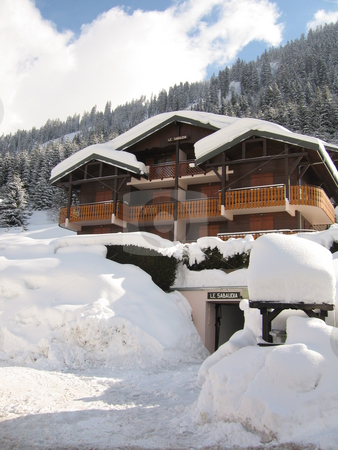 Ski Chalet  stock photo, A ski Chalet in the French Alps by Colin Elves