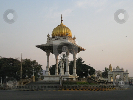 Maharaja's Statue  stock photo, A victorian style military statue of an old Maharaja, in Mysore, India. by Colin Elves