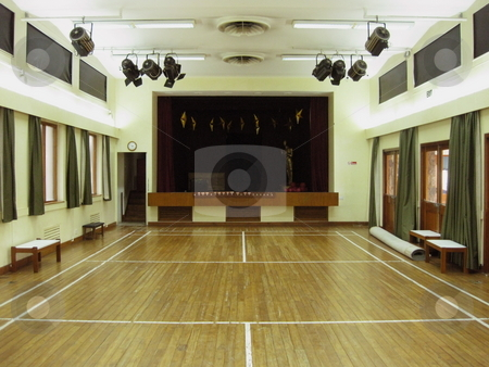Amateur Dramatics theatre stock photo, A village hall style theatre by Colin Elves