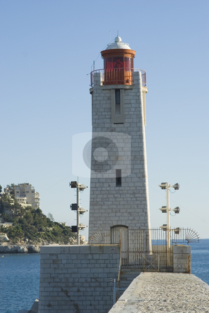 Houlight stock photo, HouseLight at the harbor of Nice (French Riviera) by Serge VILLA