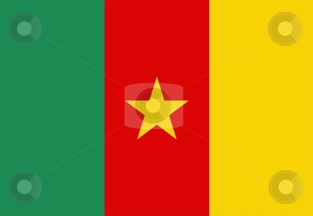 Flag Of Cameroon stock photo, 2D illustration of the flag of Cameroon by Tudor Antonel adrian
