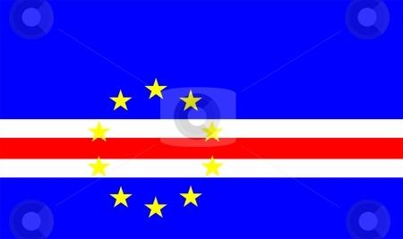 Cape Verde Flag stock photo, 2D illustration of the flag of Cape Verde vector by Tudor Antonel adrian