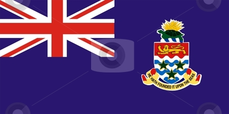 Cayman Islands Flag stock photo, 2D illustration of Cayman Islands flag color vector by Tudor Antonel adrian